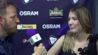eurovision 2017 interview blanche belgium after qualifying for the final