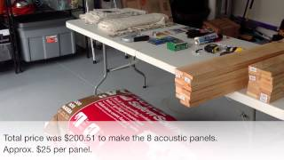 How to Build Acoustic Panels for Your Home Studio