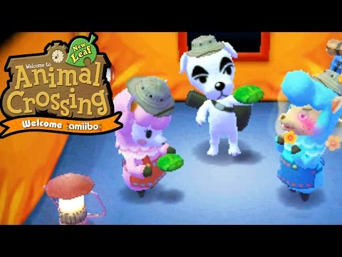Animal Crossing New Leaf - Welcome amiibo - Desert Island Escape Team KK - 3DS Gameplay Walkthrough