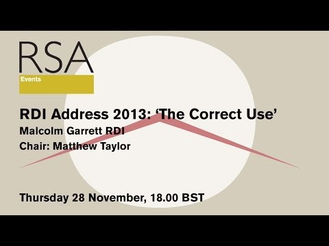 RSA Replay: RDI Address 2013: 'The Correct Use'