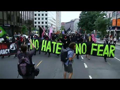 Ativistas antirracismo ensombram concentração de supremacistas brancos em Washington