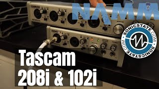 NAMM 2019 Tascam 208i and 102i Interfaces