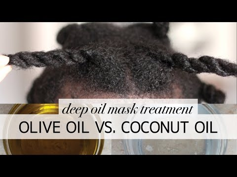 Olive oil vs Coconut oil | 4c hair