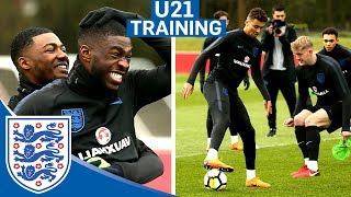 Hilarious Reactions to DOUBLE Nutmeg!! | U21 | Inside Training 2017 Video
