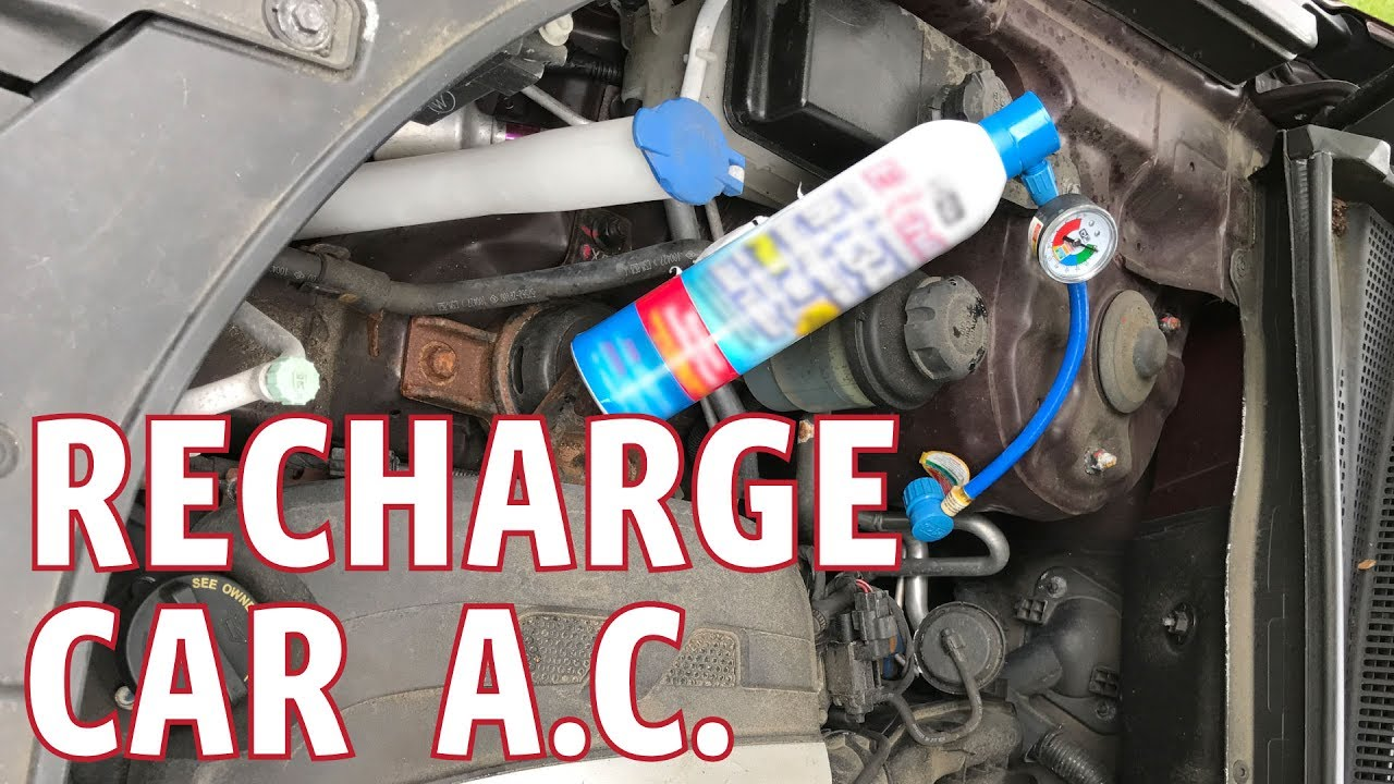 Recharge A Car Ac With Ez Chill Or Pro Refrigerant