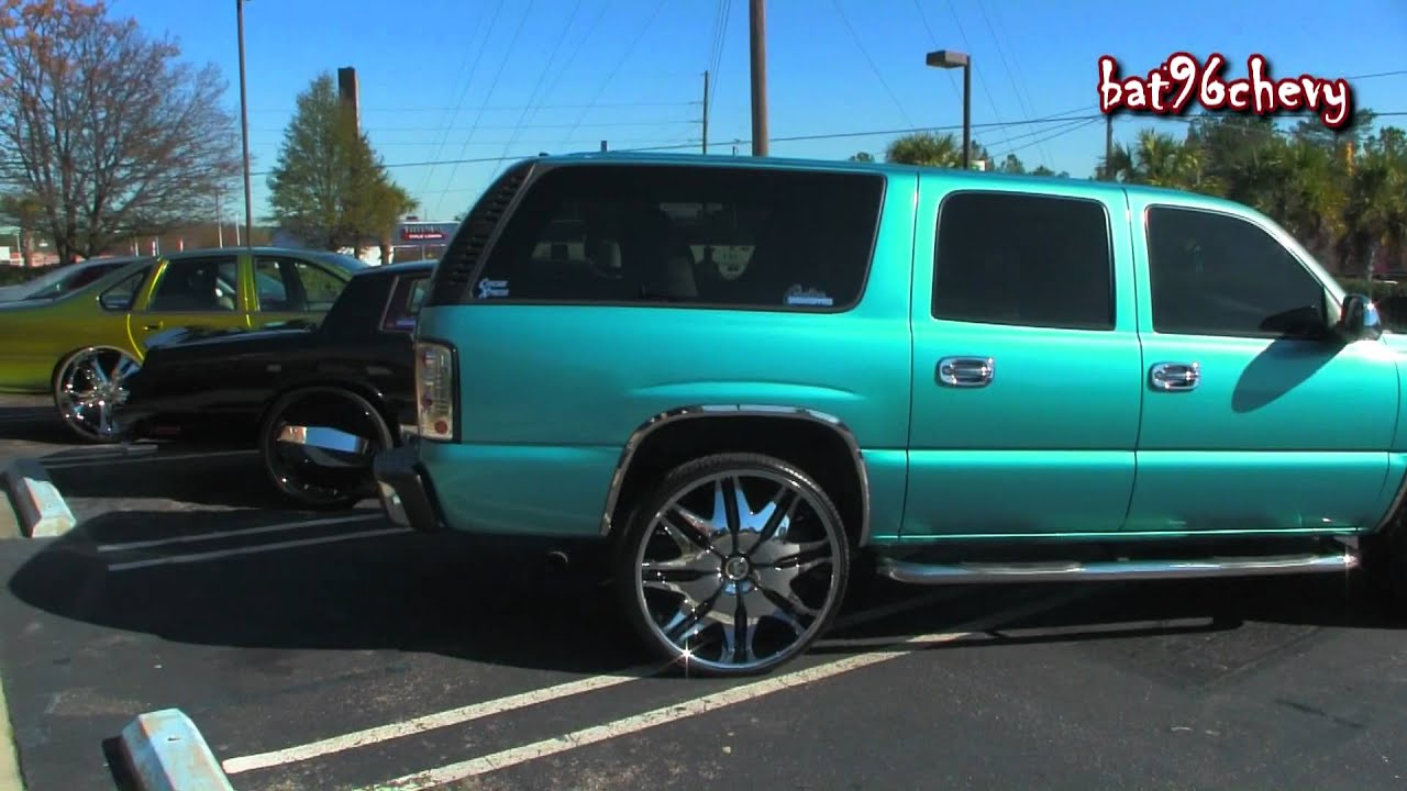 Candy Teal Chevy Suburban On Dub 28 S 1080p Hd Youtube
