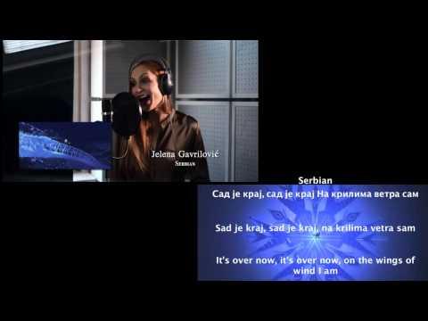 Frozen Let it Go - multilanguage behind the mic (w translation)