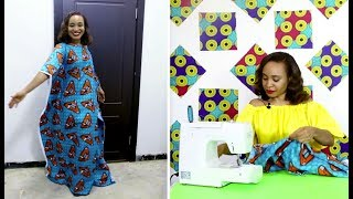 How to Sew the Perfect Kaftan Dress in minutes! (DETAILED STEPS)