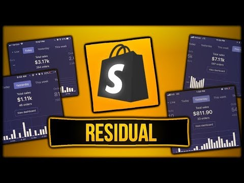 How To Make A Residual Income With Shopify ($0 to $10k)