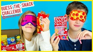 GUESS THE SNACK CHALLENGE AND CANDY TASTE TEST! SNACKS FROM AROUND THE WORLD MUNCHPAK UNBOXING