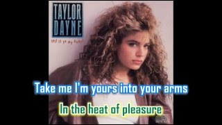 "Taylor Dayne - Tell It To My Heart (7"" single with lyrics)"