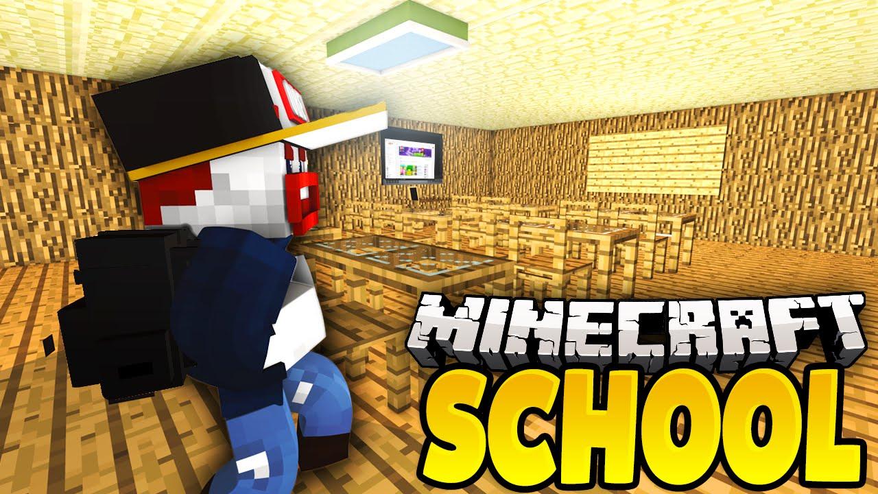 AUF DER TOILETTE VERSTECKT Minecraft School YouTube - Minecraft school spielen