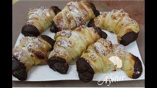 Nutellali Krosan Tarifi I Krosan mit Nutella und Marzipan