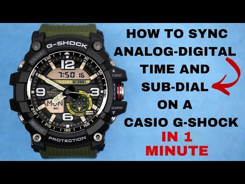 Casio G-Shock How To Sync Analog And Digital Time And Sub-Dial (Full New VIdeo) 2019