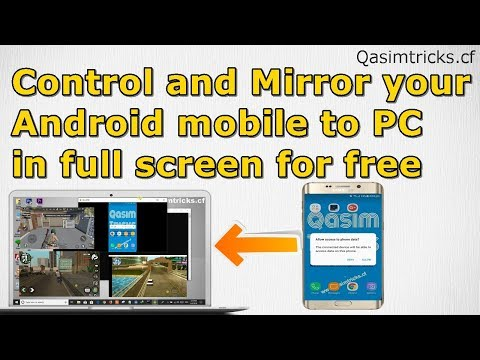 How To Mirror Android Screen To PC In Fullscreen For Free Easiest Method Ever