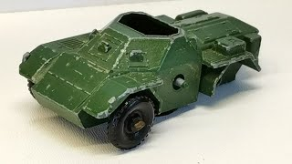Matchbox restoration Army Scout car nr 61 Diecast car, making driver and wheels