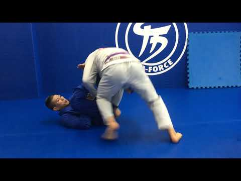 Scissors sweep(cross grip),Hip thrust Koji Shibamoto