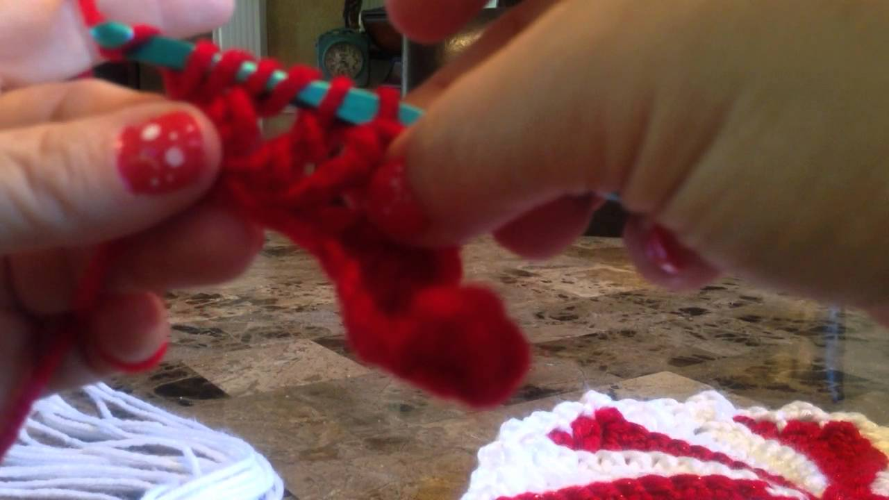 Part 1 Swirl Christmas Candy Afghan Youtube