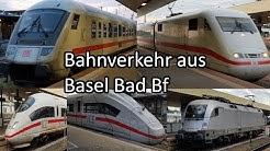 Bahnverkehr aus Basel Bad Bf - Tag und Nacht - Europa ICE / ICE 4