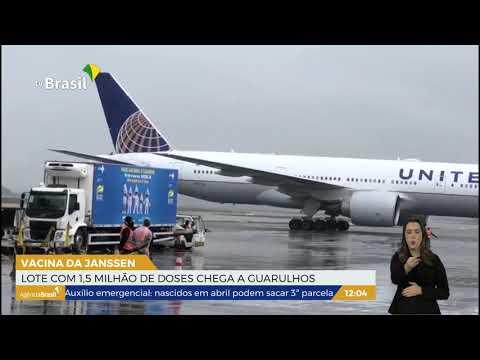 SP | Lote de 1,5 milhão de doses da Janssen chega a Guarulhos