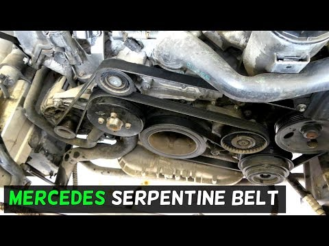 mercedes 3 2 v6 w203 w210 w208 w211 serpentine belt replacement  e320 v6 engine diagram #3