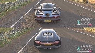 Forza Horizon 4 - Bugatti Chiron vs McLaren Senna
