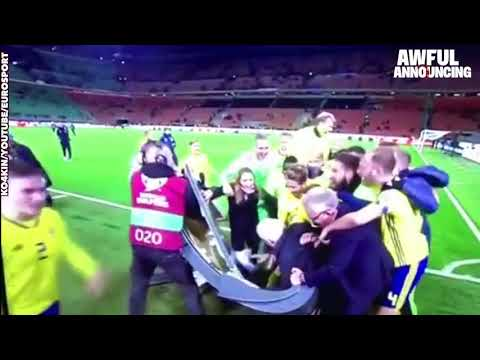Team Sweden Breaks Eurosport Table Celebrating World Cup Qualifying