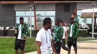 Russia 2018 Nigeria national team super eagles take a walk ahead of the game against Croatia