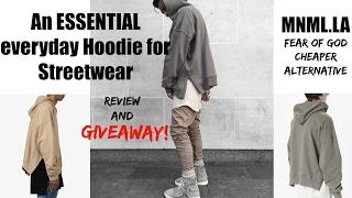 """MNML:An Essential Hoodie for streetwear (Fear of God """"Everyday"""" Hoodie Alternative)"""