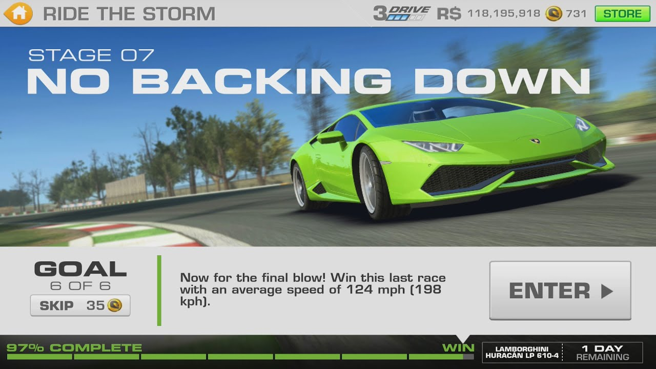 ride the storm lamborghini huracan stage 07 goal 6 of 6 real racing 3 youtube. Black Bedroom Furniture Sets. Home Design Ideas