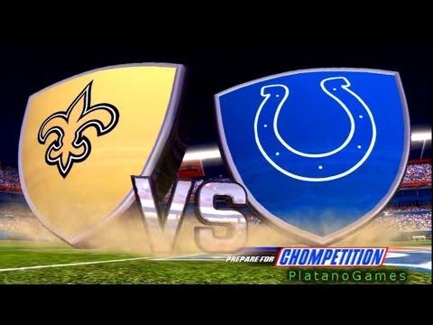 NFL 2009 Super Bowl XLIV - New Orleans Saints vs Indianapolis Colts - 1st Qrt - Madden