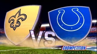 NFL 2009 Super Bowl XLIV - New Orleans Saints vs Indianapolis Colts - 1st Qrt - Madden