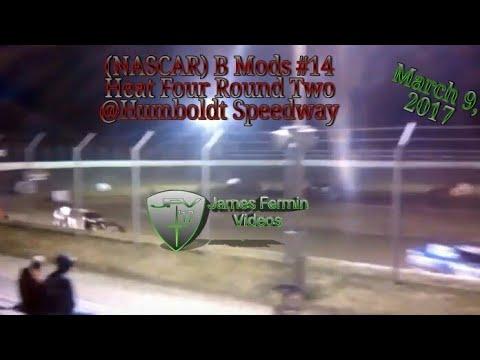 B Mod #14, Round 2 Heat 4, Thursday Night, Humboldt Speedway, 2017