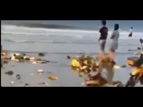 榴莲船翻覆 广西村民蜂拥哄抢 300多人食物中毒(图/视频)