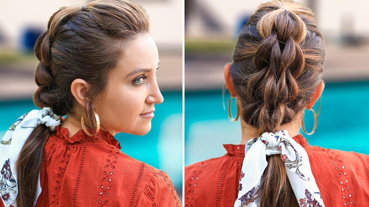 3 Strand Pull Thru Braid Diy Easy Hairstyles Youtube