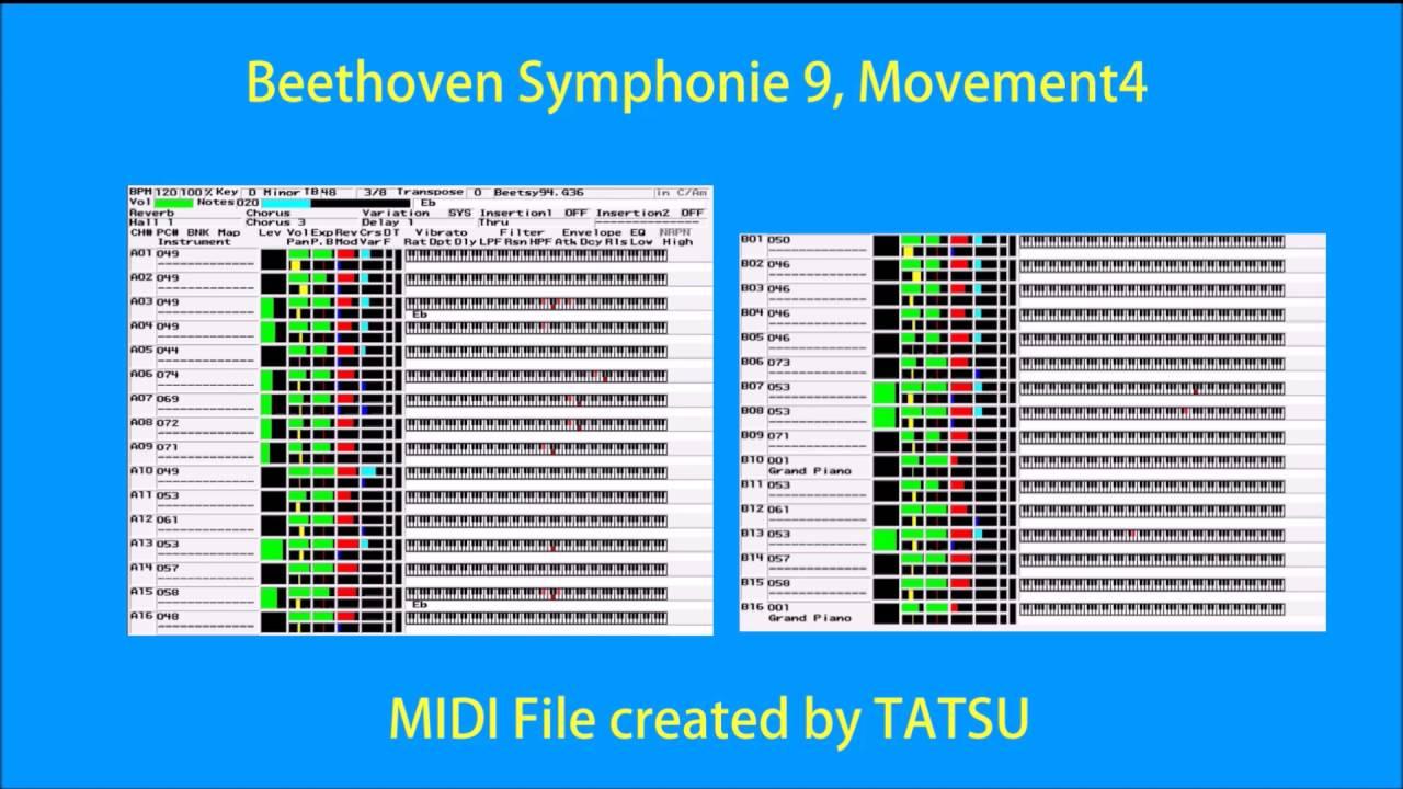MIDI/Beethoven Symphonie 9 Movement 4