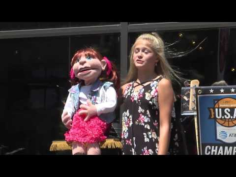 Ventriloquist star Darci Farmer performs in Oklahoma City