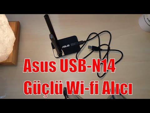 Asus USB-N14 Wireless N300 Usb Wifi Alıcı Kutu Açılımı İnceleme ve Test - Unboxing and Test