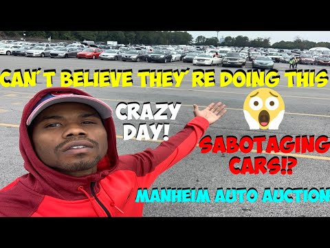 AUTO DEALERS ARE SABOTAGING CARS AT MANHEIM AUTO AUCTION *SCAM DEALERS *