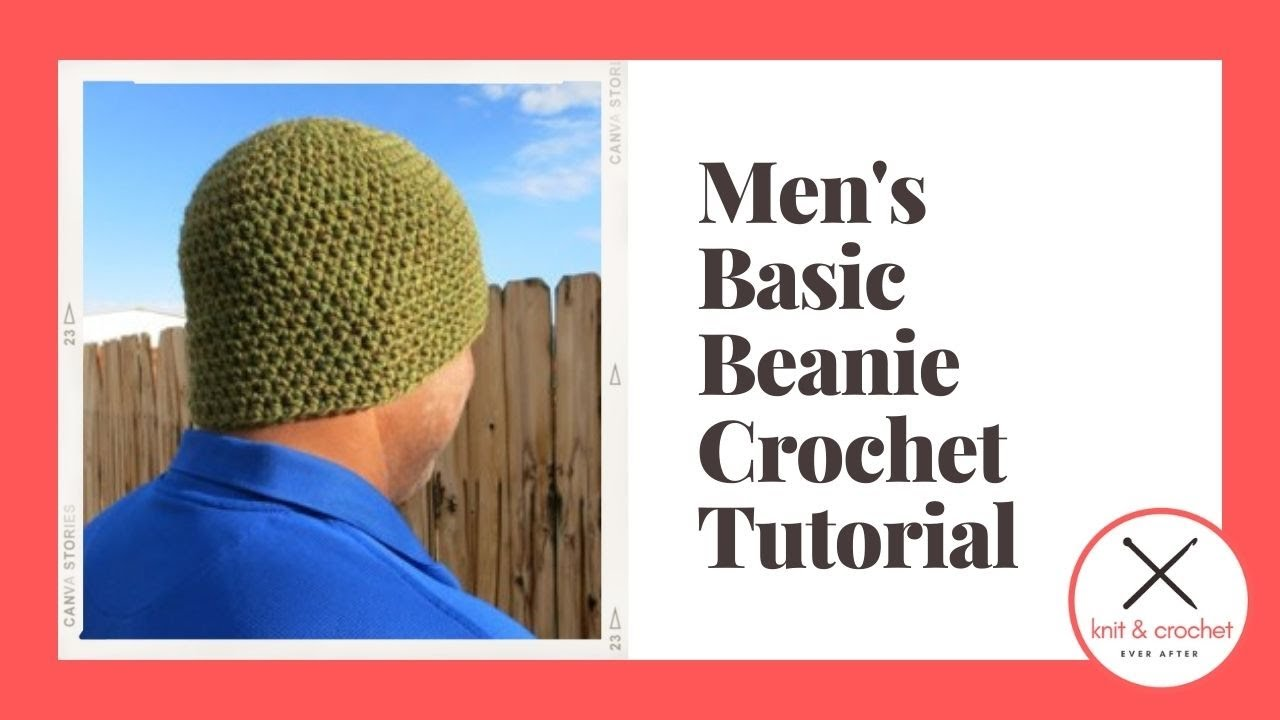 Basic Mens Beanie Free Pattern Workshop Youtube