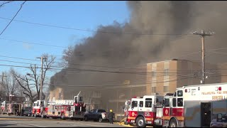 pfd ts 5 engine 45 responding with 4 alarm fire footage