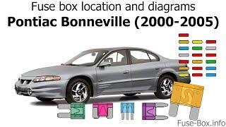 Fuse box location and diagrams: Pontiac Bonneville (2000-2005) - YouTubeYouTube