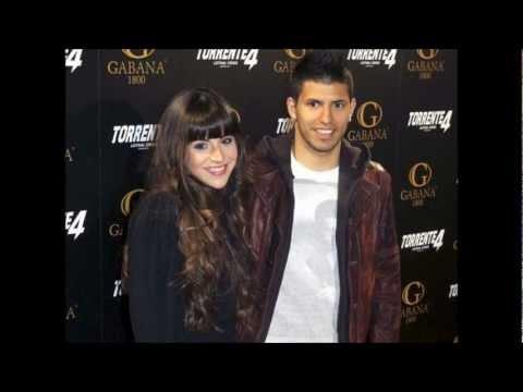 Sergio Kun Aguero Girlfriend Wife Giannina Maradona Son ...