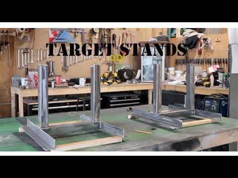 How I made target stands for a gun range out of metal and wood