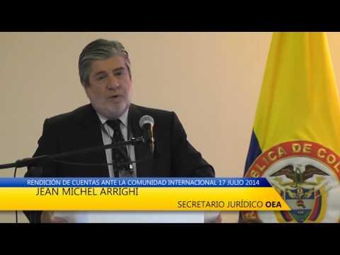PRONUNCIAMIENTO  JEAN MICHEL ARRIGHI SECRETARIO JURÍDICO OEA