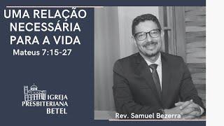 20/09/2020 - UMA RELAÇÃO NECESSÁRIA PARA A VIDA