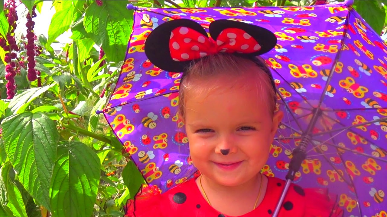 Rain Rain Go Away Song with Katya and Mickey Mause Nursery Rhymes