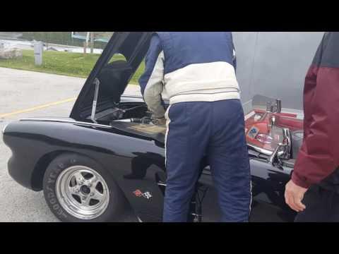Road America 1960 vette electrical fire