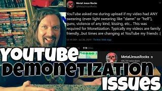 metal jesus rocks youtube demonetization issues