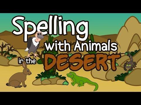 Desert Animals – Fun Spelling Songs for Children – Kids Spelling -  Learning Videos